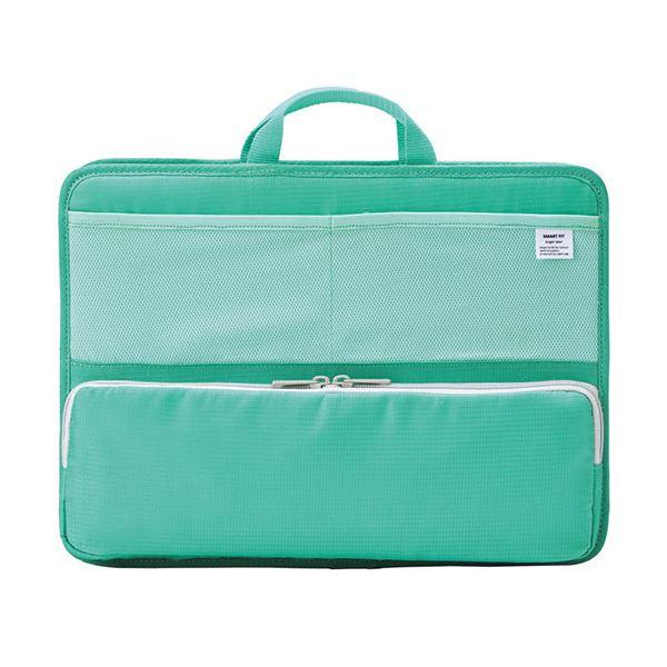 (まとめ)リヒトラブ SMART FITbright label スタンドポケット (ヨコ型) A4 グリーン A-7664-7 1個【×2セット】【卸直送品】