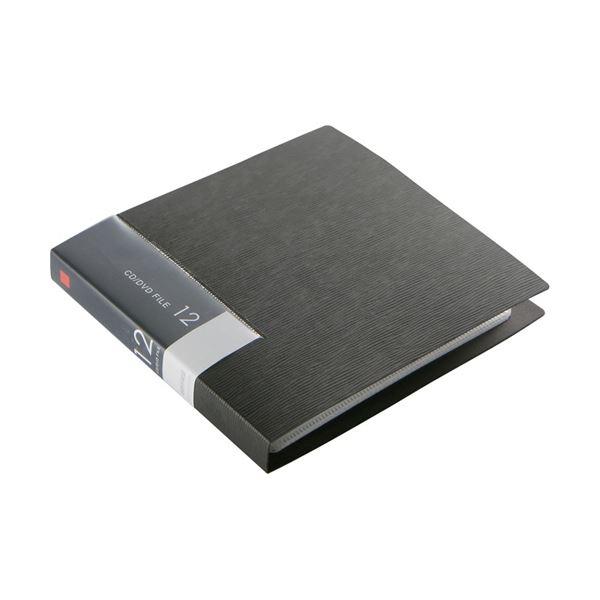 (まとめ)バッファローCD&DVDファイルケース ブックタイプ 12枚収納 ブラック BSCD01F12BK 1個【×30セット】【卸直送品】