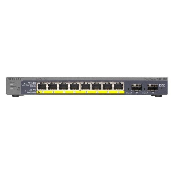 ネットギア 「本体ライフタイム」PoE ギガ10ポート スマートスイッチ GS110TP-200AJS [GS110TP200AJS]