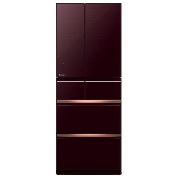 三菱 470L 6ドアノンフロン冷蔵庫 置けるスマート大容量 クリスタルブラウン MR-WX47LE-BR [MRWX47LEBR]【NEYP】