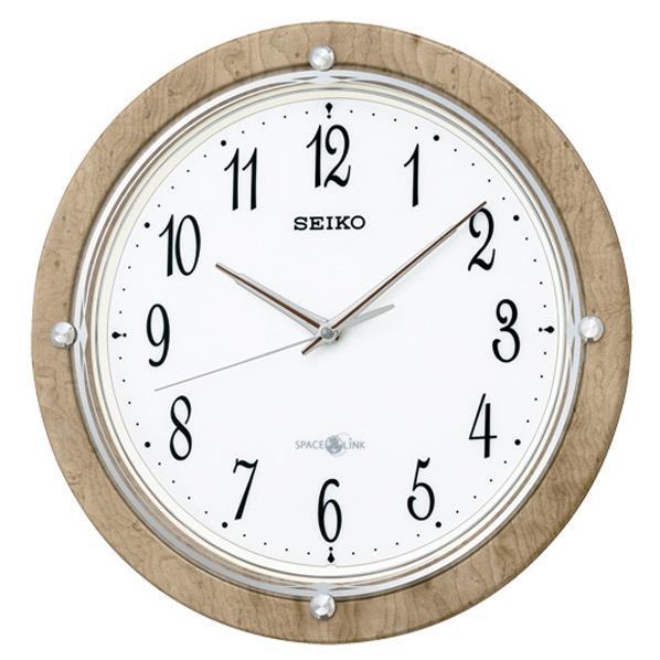 SEIKO 電波掛時計 薄茶木目模様 光沢仕上げ GP212A [GP212A]