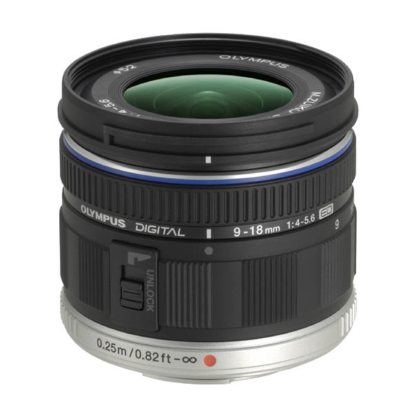 オリンパス ズームレンズ M.ZUIKO DIGITAL ED 9-18mm ブラック MZED918MMF4056 [MZED918MM]