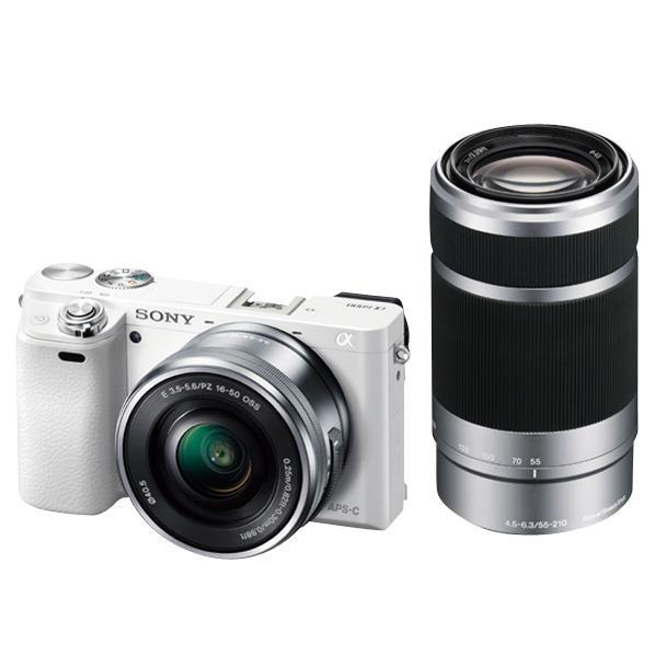 SONY デジタル一眼カメラ・ダブルズームレンズキット α6000 ホワイト ILCE-6000Y W [ILCE6000YW]【RNH】