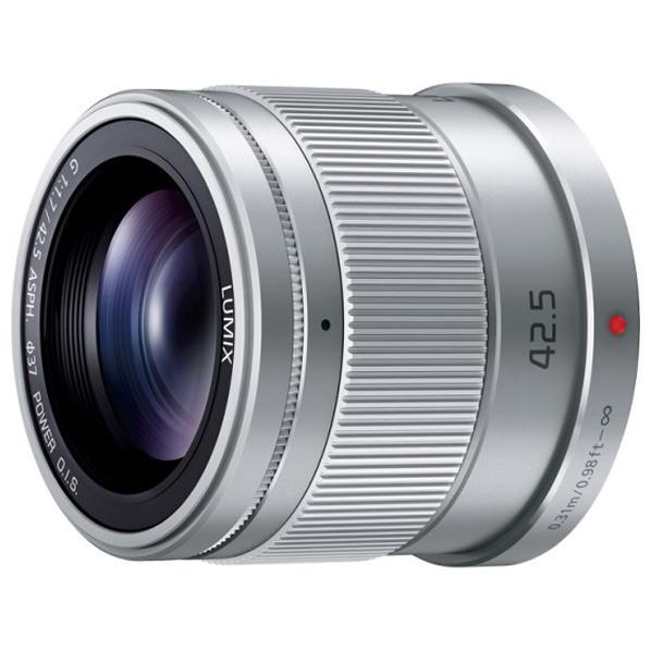 パナソニック マイクロフォーサーズシステム用交換レンズ LUMIX G 42.5mm / F1.7 ASPH. / POWER O.I.S. シルバー H-HS043-S [HHS043S]