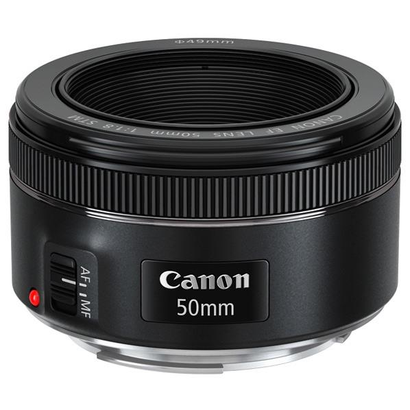 キヤノン 単焦点レンズ EF50mm F1.8 STM ブラック EF5018STM [EF5018STM]