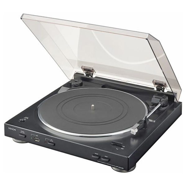 DENON レコードプレーヤー ブラック DP-200USB-K [DP200USBK]