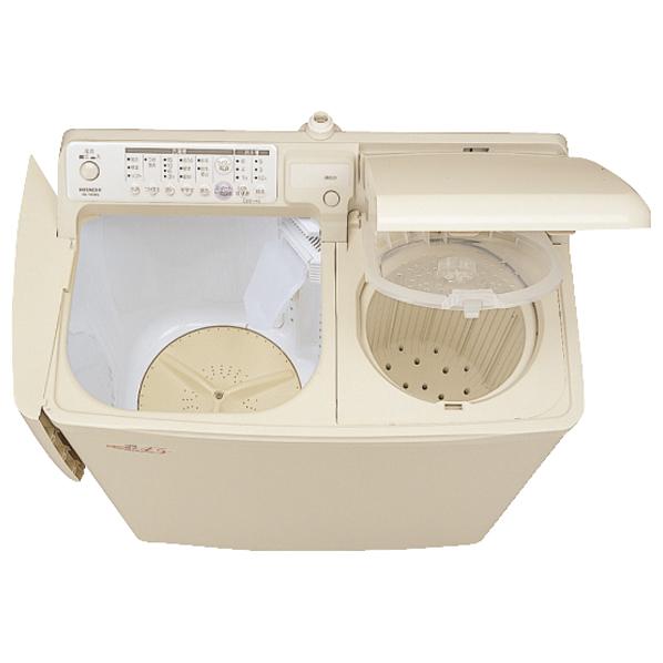 日立 4.5kg自動二槽式洗濯機 青空 パインベ-ジュ PA-T45K5 CP [PAT45K5CP]【RNH】