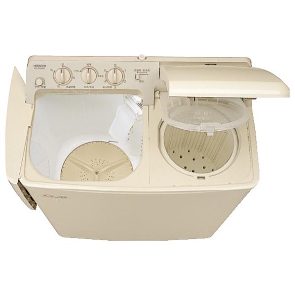 日立 4.5kg二槽式洗濯機 青空 パインベ-ジュ PS-H45L CP [PSH45LCP]【RNH】