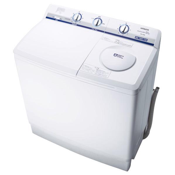 【送料無料】日立 12.0kgニ槽式洗濯機 青空 ホワイト PS-120A W [PS120AW]【RNH】