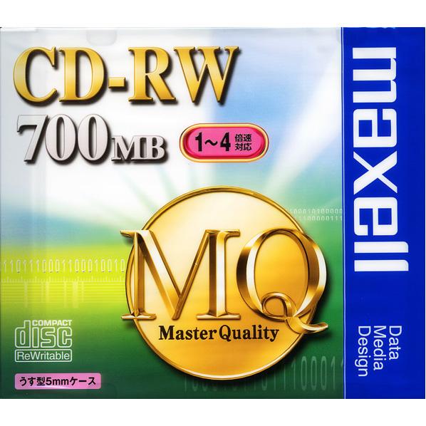 マクセル データ用CD-RW 700MB 1-4倍速対応 1枚入り CDRW80MQS1P [CDRW80MQS1P]