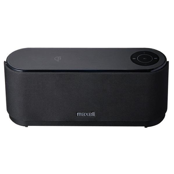 マクセル Bluetooth+NFC+Qi(チー)充電機能搭載 ポータブルスピーカー ブラック MXSP-WP2000BK [MXSPWP2000BK]【RNH】