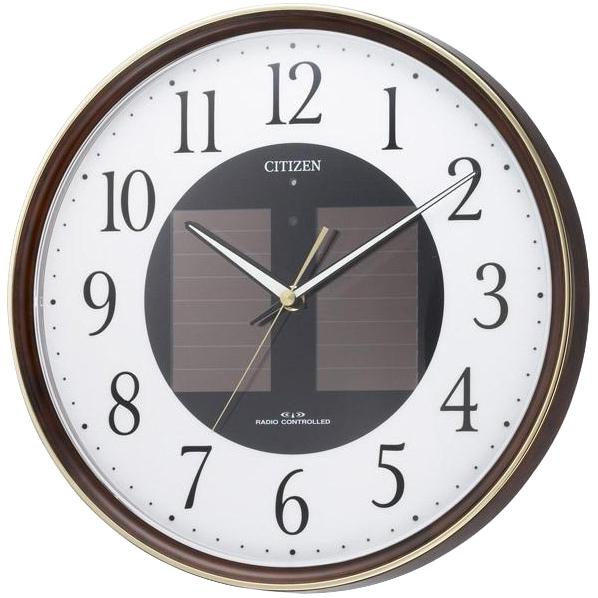 リズム時計 電波掛時計 エコライフM807 木目仕上 4MY807-023 [4MY807023]