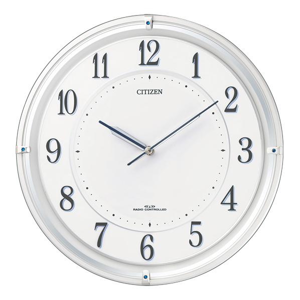 リズム時計 電波ソーラー掛時計 サイレントソーラーM817 4MY817-003 [4MY817003]