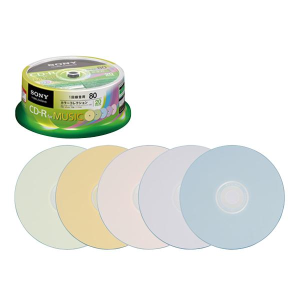 SONY 音楽用CD-R 80分 インクジェットプリンタ対応 20枚入り 20CRM80PXP [20CRM80PXP]