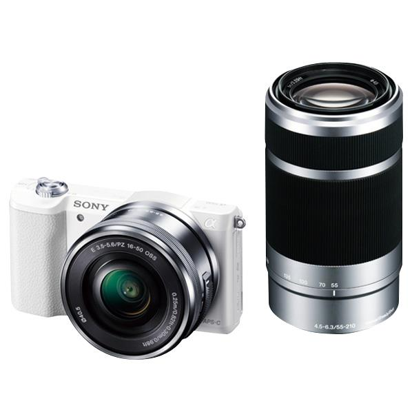 SONY デジタル一眼カメラ・ダブルズームレンズキット α5100 ホワイト ILCE-5100Y W [ILCE5100YW]【RNH】