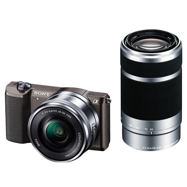 SONY デジタル一眼カメラ・ダブルズームレンズキット α5100 ブラウン ILCE-5100Y T [ILCE5100YT]【RNH】