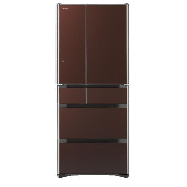 【送料無料】日立 615L 6ドアノンフロン冷蔵庫 真空チルド クリスタルブラウン R-G6200F-XT [RG6200FXT]【RNH】