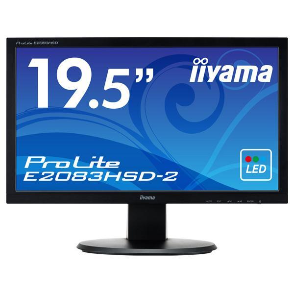 IIYAMA 19.5型液晶ディスプレイ ProLite マーベルブラック E2083HSD-B2 [E2083HSDB2]【RNH】