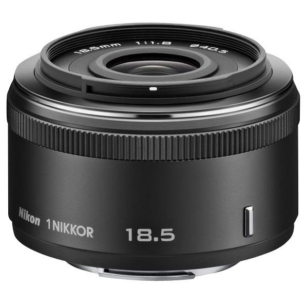 【送料無料】ニコン 標準レンズ 1 NIKKOR 18.5mm f/1.8 ブラック 1N 185BK [1N185BK]【KK9N0D18P】