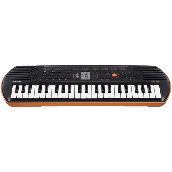 ポップなカラーリングでスタイリッシュに弾ける お金を節約 カシオ 電子キーボード SA76 商店 SA-76