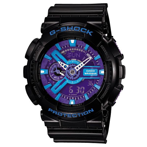 カシオ 腕時計 G-SHOCK ブラック/ブルー液晶 GA-110HC-1AJF [GA110HC1AJF]