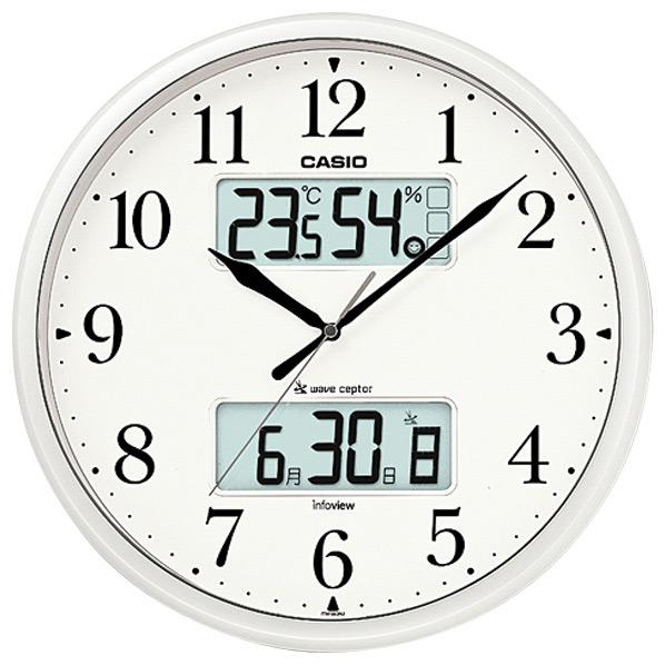 日本気象協会共同企画の環境お知らせ機能付き壁掛け電波時計です カシオ 電波掛時計 価格交渉OK送料無料 安心の実績 高価 買取 強化中 ITM-660NJ-8JF パールシルバー ITM660NJ8JF