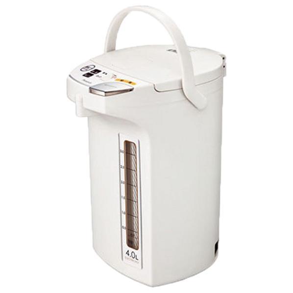安売り シルバーの大きな給湯ボタンは一目でわかりやすく 絶品 しっかり押しやすい ピーコック 電動給湯ポット ホワイト 4.0L WMJ-40W WMJ40W