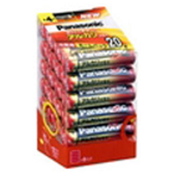 おNEWの電池を見分けるパック パナソニック アルカリ乾電池単4形20本パック LR03XJ/20SH [LR03XJ20SH]
