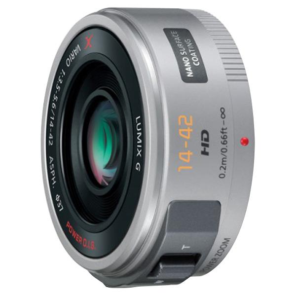 パナソニック レンズ LUMIX G X VARIO PZ 14-42mm/F3.5-5.6 ASPH./ POWER O.I.S. シルバー H-PS14042-S [HPS14042S]