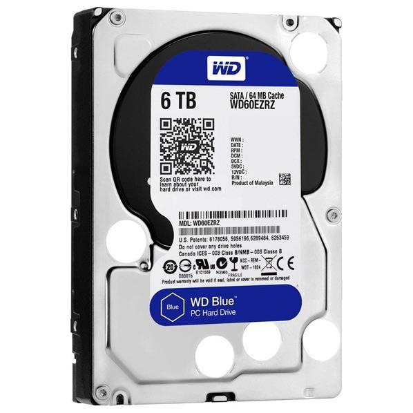 WESTERN デスクトップ用3.5インチ型ハードディスクドライブ(6TB) WD Blue WD60EZRZ-RT [WD60EZRZRTC]【MMARP】