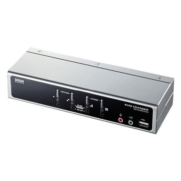 【送料無料】サンワサプライ USB・PS/2コンソール両対応パソコン自動切替器(4:1) SW-KVM4HVCN [SWKVM4HVCN]