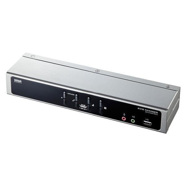サンワサプライ デュアルリンクDVI対応パソコン自動切替器(4:1) SW-KVM4HDCN [SWKVM4HDCN]