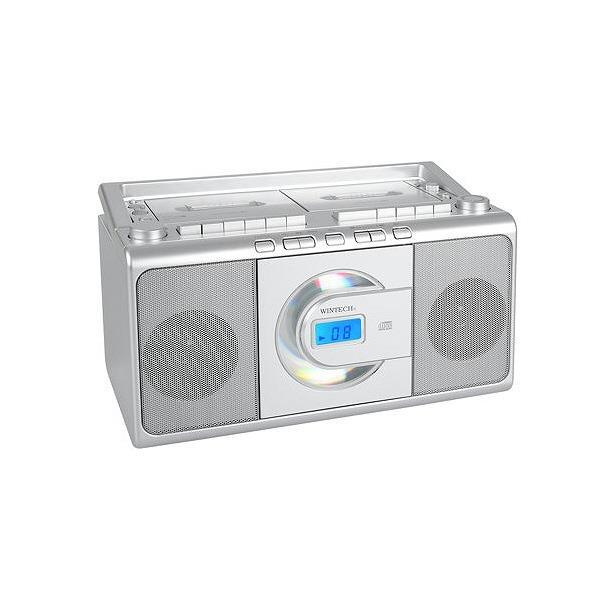 WINTECH CDダブルラジカセ シルバー CDR-W70 [CDRW70]