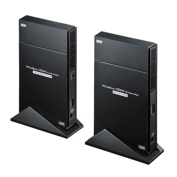 サンワサプライ ワイヤレスHDMIエクステンダー(据え置きタイプ・セットモデル) VGA-EXWHD5 [VGAEXWHD5]