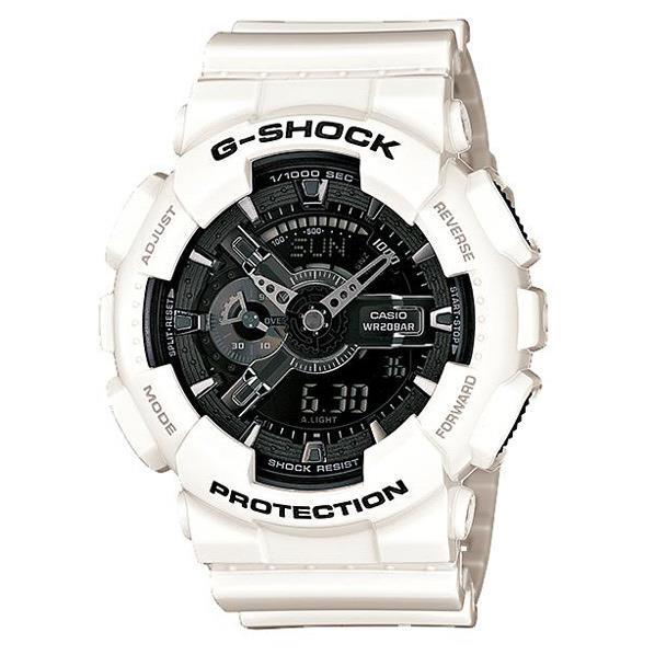 カシオ 腕時計 G-SHOCK ホワイト/反転液晶 GA-110GW-7AJF [GA110GW7AJF]