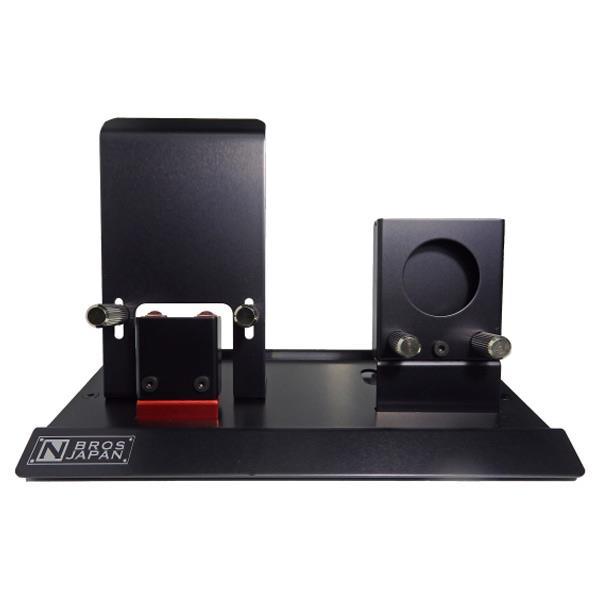 N BROS JAPAN 充電スタンド AppleWatch/iPhone用 ブラック&レッドアルマイト NB-AW004NWB [NBAW004NWB]