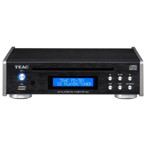TEAC USB搭載/ワイドFM対応 CDプレーヤー/FMチューナー ブラック PD-301-B [PD301B]【RNH】【NATUM】
