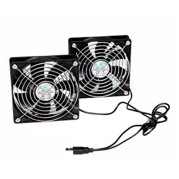 冷却にも、換気扇にも。アイデアしだいで使い方は無限。どこでも使えるUSB扇風機。 タイムリー USBデュアルFAN BIGFAN BIGFAN120U-STEREO [BIGFAN120USTEREO]