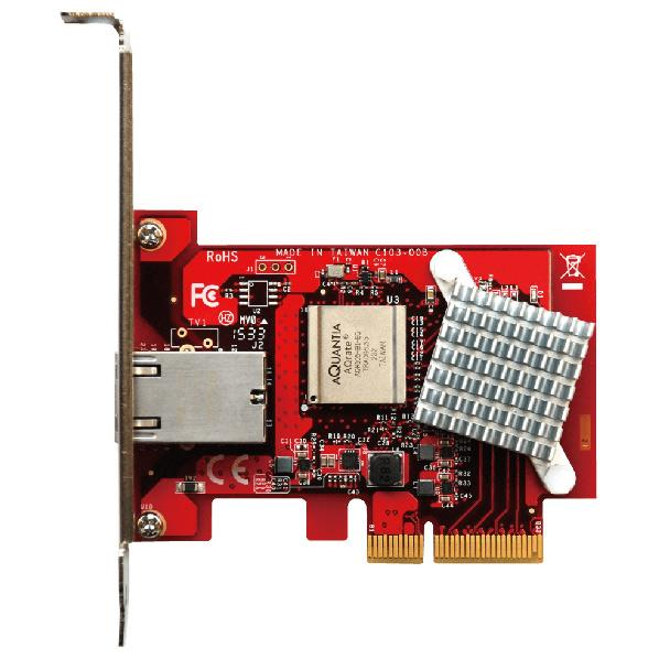玄人志向 Theui TN4010、Aqrate AQR105搭載 10GBase-T イーサネットボード(PCI-Express x4接続) GBEX-PCIE [GBEXPCIE]