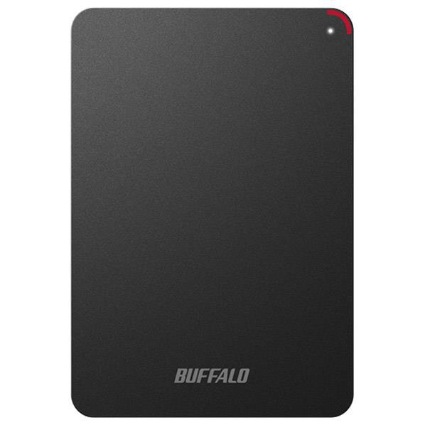 BUFFALO ターボPC EX2 Plus対応 耐衝撃&USB3.0ポータブルHDD(4TB) ミニステーション ブラック HD-PSF4.0U3-GB [HDPSF40U3GB]