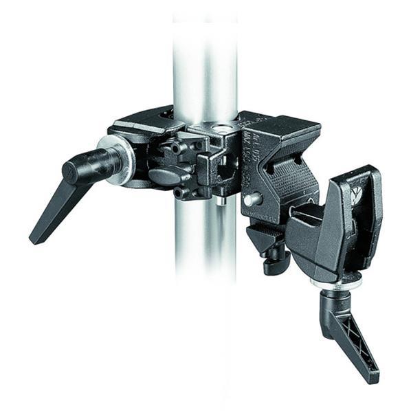 ふたつのスーパークランプを90度ひねった状態で固定したダブルクランプ パイプを横に固定する場合などに便利です Manfrotto 038 ダブルスーパークランプ 新作多数 新作