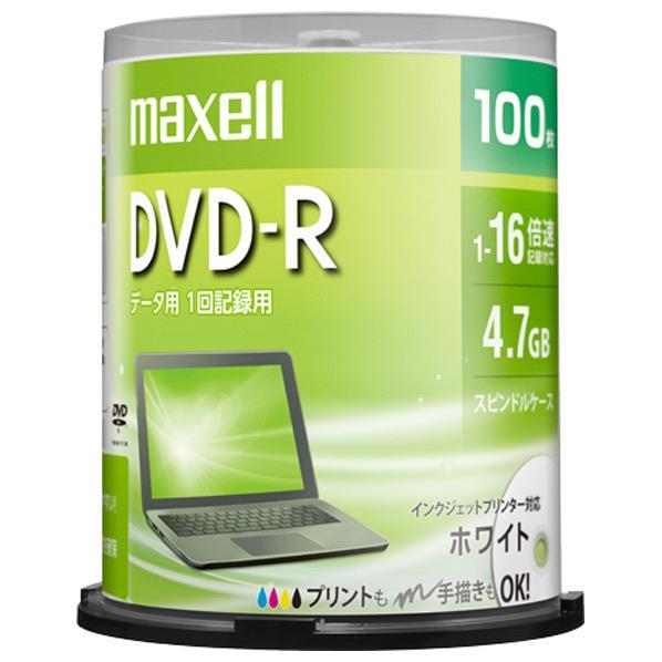 マクセル データ用DVD-R 4.7GB 1-16倍速対応 インクジェットプリンタ対応 100枚入り DR47PWE.100SP [DR47PWE100SP]