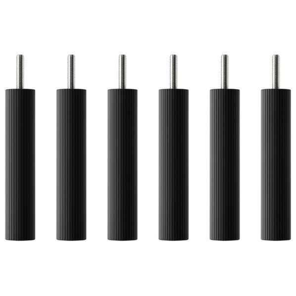 タオック BSR-L type用支柱セット(15cm・6本1組) ブラックつや消し BSR-P615 [BSRP615]