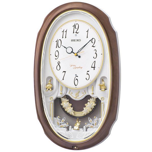 SEIKO 電波掛時計 茶マーブル模様光沢仕上げ AM260A [AM260A]【MVSP】