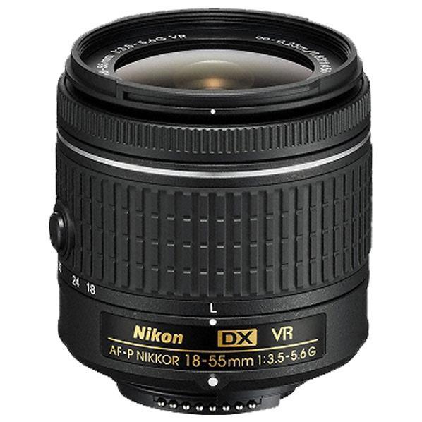 ニコン 標準ズームレンズ AF-P DX NIKKOR 18-55mm f/3.5-5.6G VR ブラック AFPDX18-55VR [AFPDX1855VR]