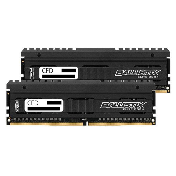 【送料無料】CFD DDR4-2666対応 デスクトップPC用メモリ 288pin DIMM Heatsink搭載(8GB×2枚組) CFD Selection Ballistix by Micron / Elite Series W4U2666BME-8G [W4U2666BME8G]