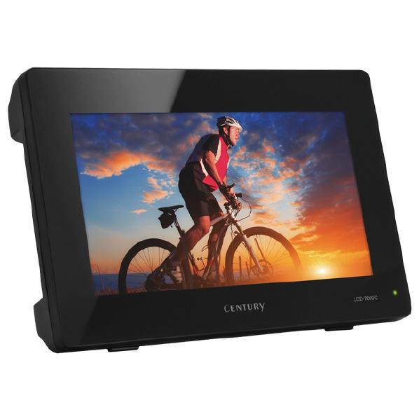 【送料無料】センチュリー 7インチコンポジットビデオモニター plus one VIDEO ブラック LCD-7000C [LCD7000C]