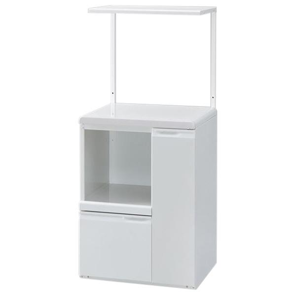 【送料無料】エムケー 組立式 ロータイプレンジ台 ファインキッチン ホワイト KLS-07W [KLS07W]