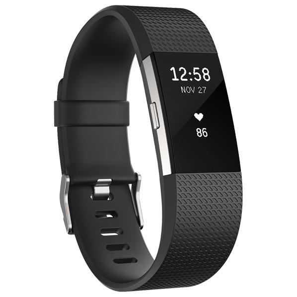 Fitbit 心拍計+フィットネスリストバンド Sサイズ Charge 2 Black FB407SBKS-JPN [FB407SBKSJPN]