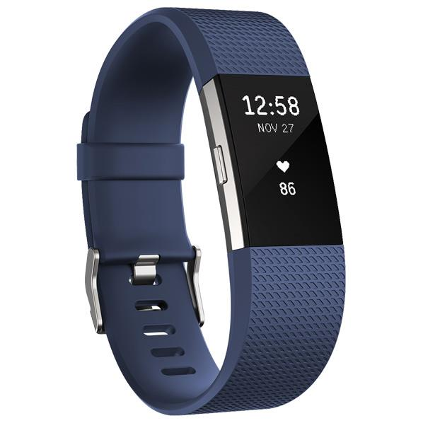 Fitbit 心拍計+フィットネスリストバンド Sサイズ Charge 2 Blue FB407SBUS-JPN [FB407SBUSJPN]